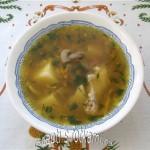 Суп гречневый с грибами и курицей