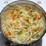 Салат из капусты с морковью и маслом