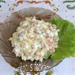 Салат с семгой, сыром и яйцом