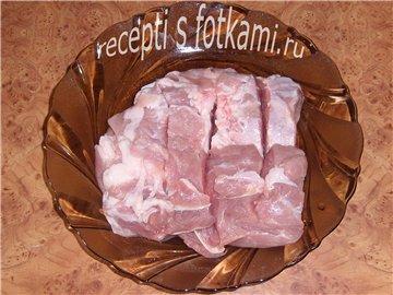 Делаем надрезы на мясе