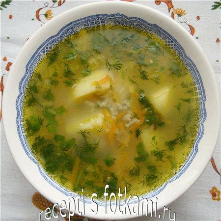 Суп из цыпленка, картофеля и риса