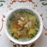 Суп на курином бульоне из домашней курицы