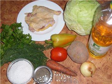 Овощной суп с рисом и кнелями из курицы, пошаговый рецепт с фото