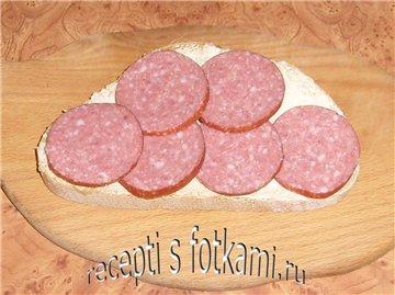 Кладём колбаску