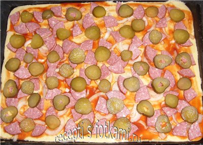 Пицца на кефире, пошаговый рецепт с фото