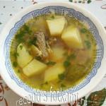 Суп из говяжьих ребрышек с картофелем