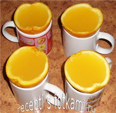 Заливаем желе в апельсины