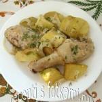 Куриные голени, запеченные в рукаве с картошкой