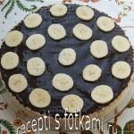 Вафельный торт со сгущенкой и бананами