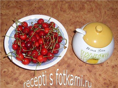 Ингредиенты на компота из черешни