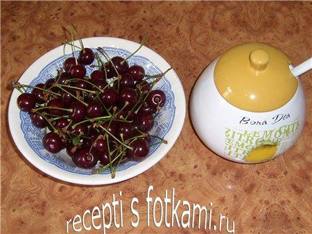 Ингредиенты для вишнёвого джема