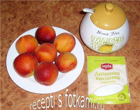 Ингредиенты для компота из персиков