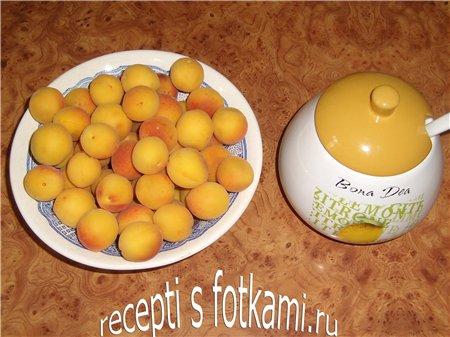 Ингредиенты для варенья из абрикосов