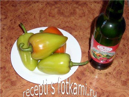 Ингредиенты для жареного перца на зиму