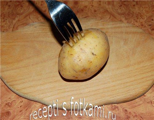 Делаем в картошке дырки