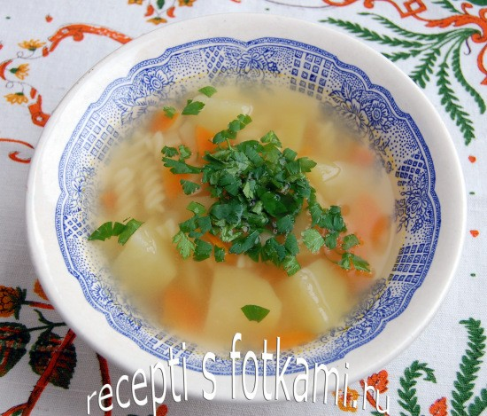 Суп на бульоне из свиного языка